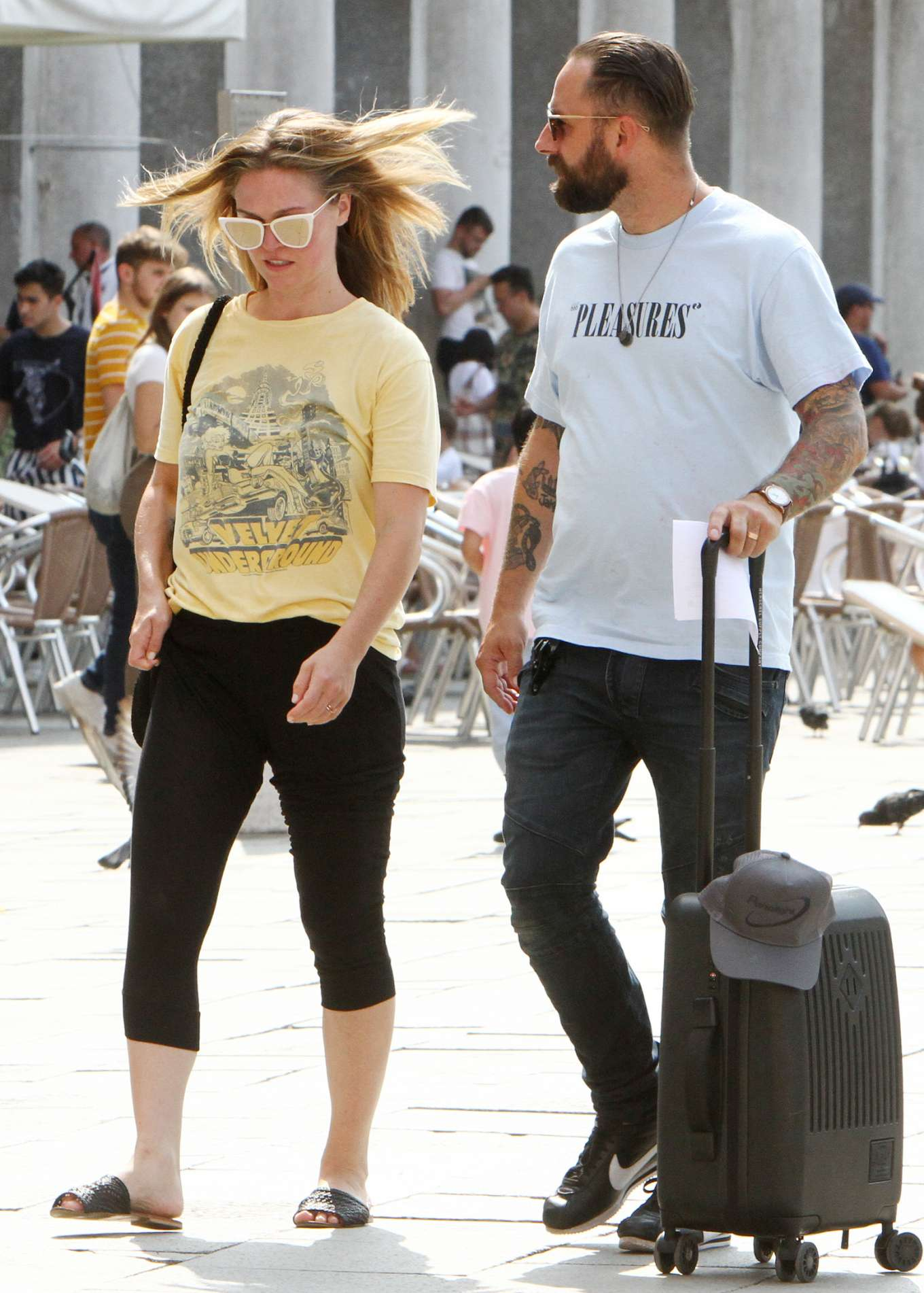 Julia Stiles 2019 : Julia Stiles and her husband Preston J. Cook – Spotted in Venice -12