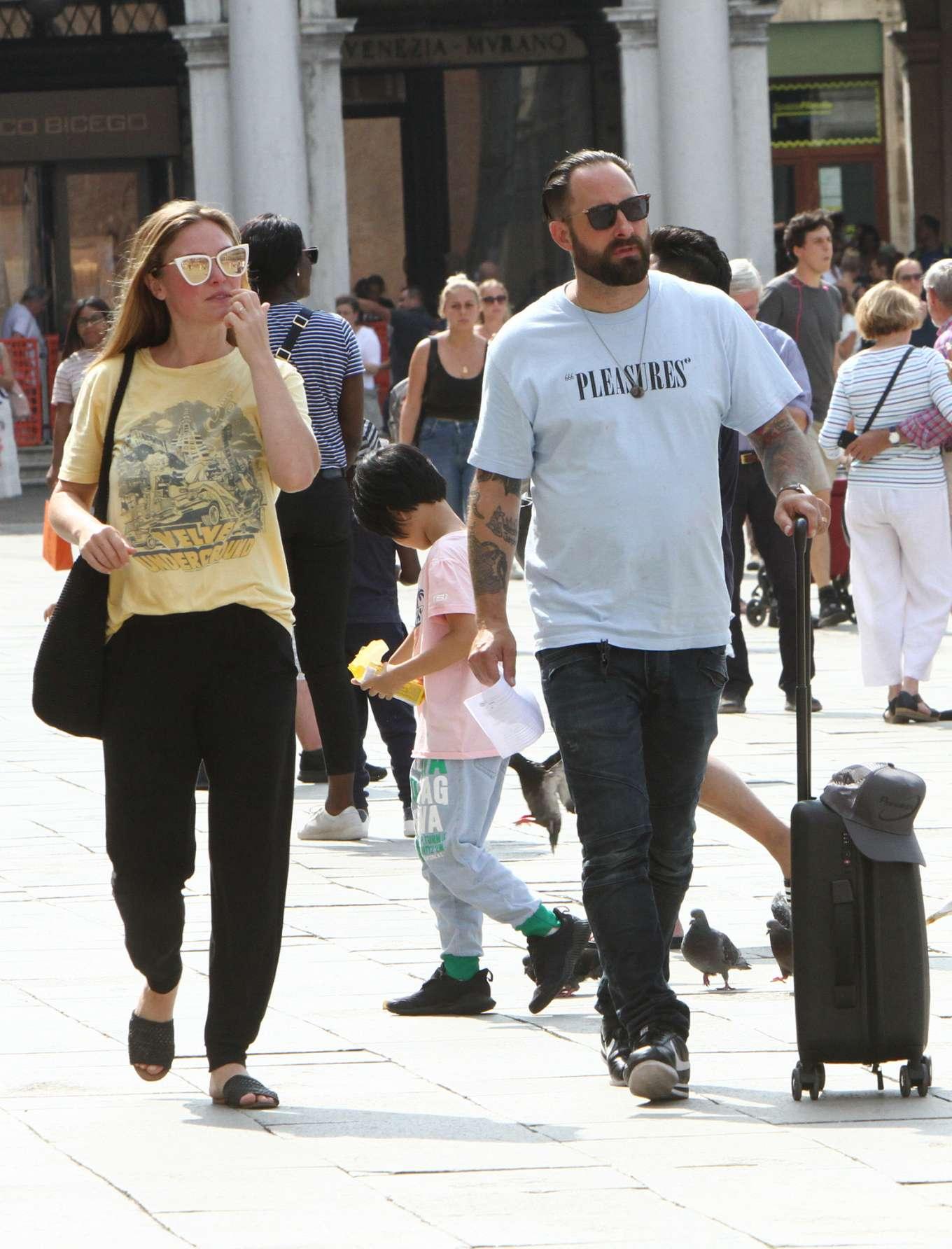 Julia Stiles 2019 : Julia Stiles and her husband Preston J. Cook – Spotted in Venice -15