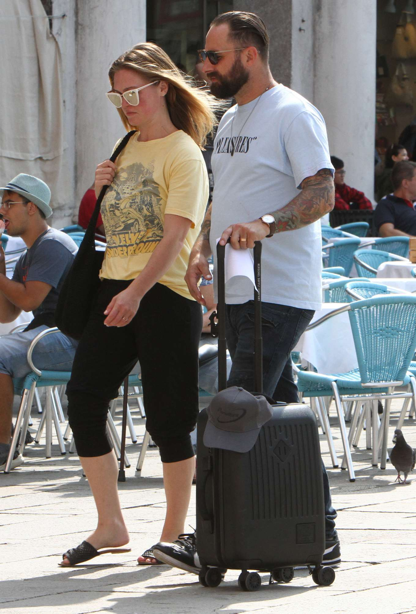 Julia Stiles 2019 : Julia Stiles and her husband Preston J. Cook – Spotted in Venice -17