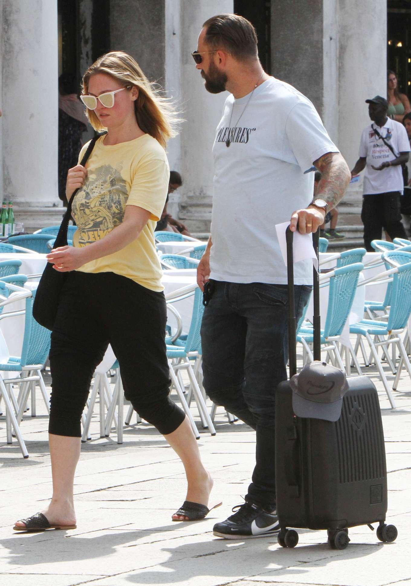 Julia Stiles 2019 : Julia Stiles and her husband Preston J. Cook – Spotted in Venice -20