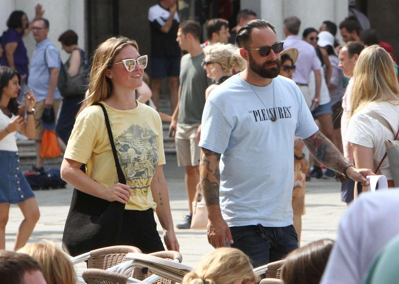 Julia Stiles 2019 : Julia Stiles and her husband Preston J. Cook – Spotted in Venice -21