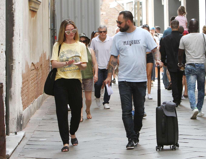 Julia Stiles 2019 : Julia Stiles and her husband Preston J. Cook – Spotted in Venice -23