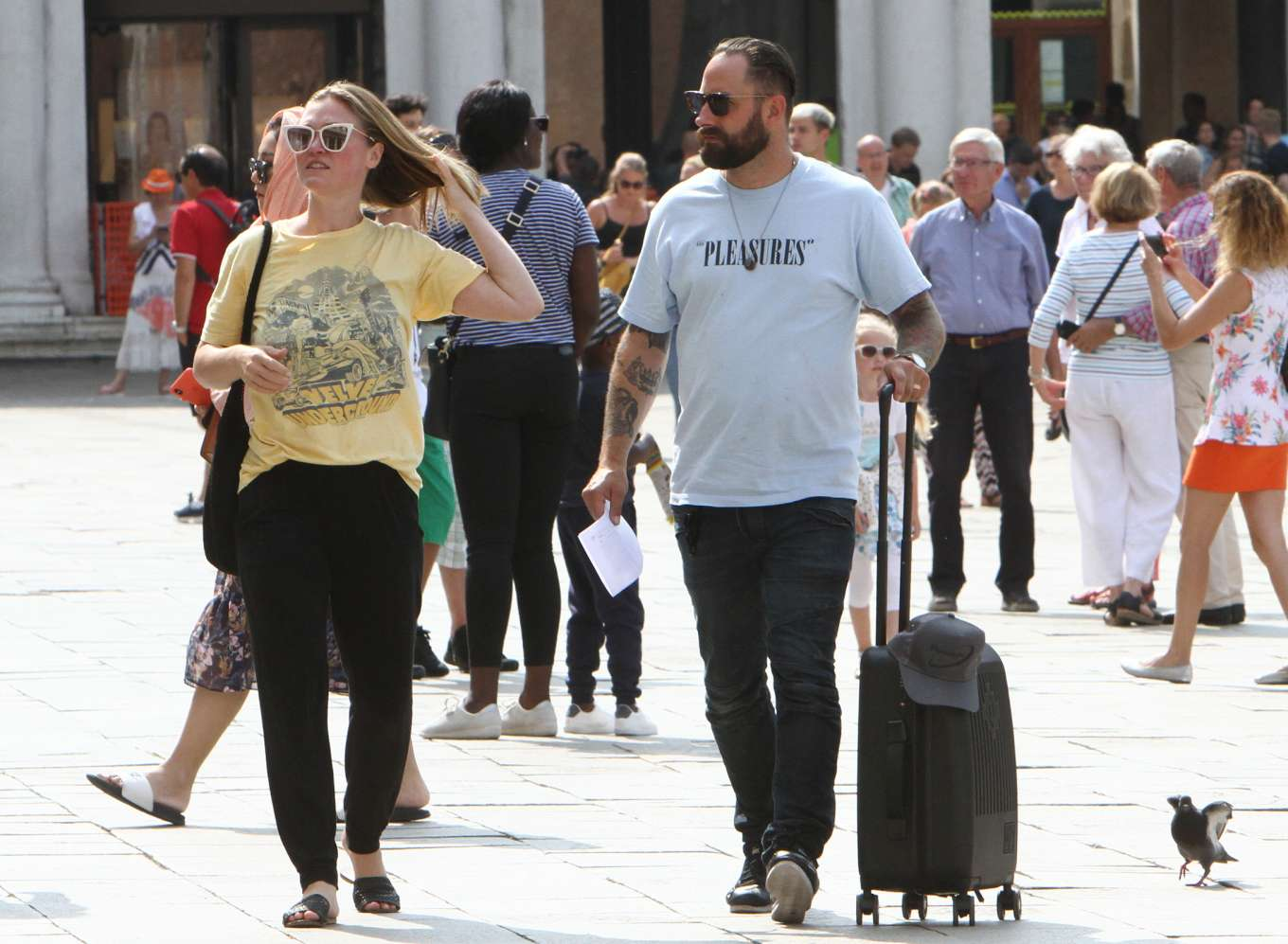Julia Stiles 2019 : Julia Stiles and her husband Preston J. Cook – Spotted in Venice -24