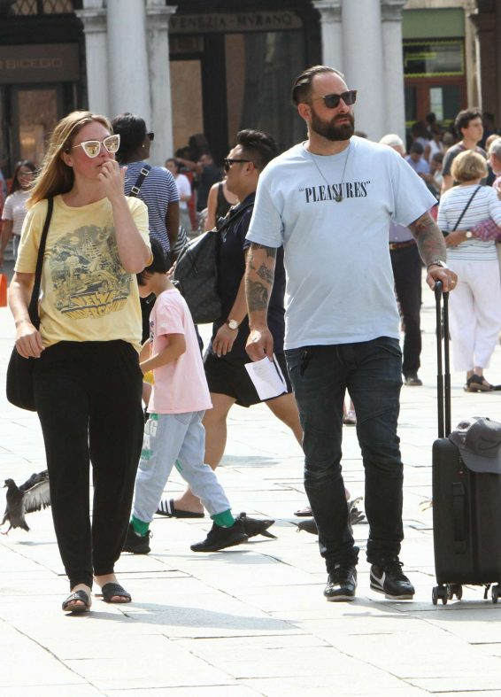Julia Stiles and her husband Preston J. Cook - Spotted in Venice