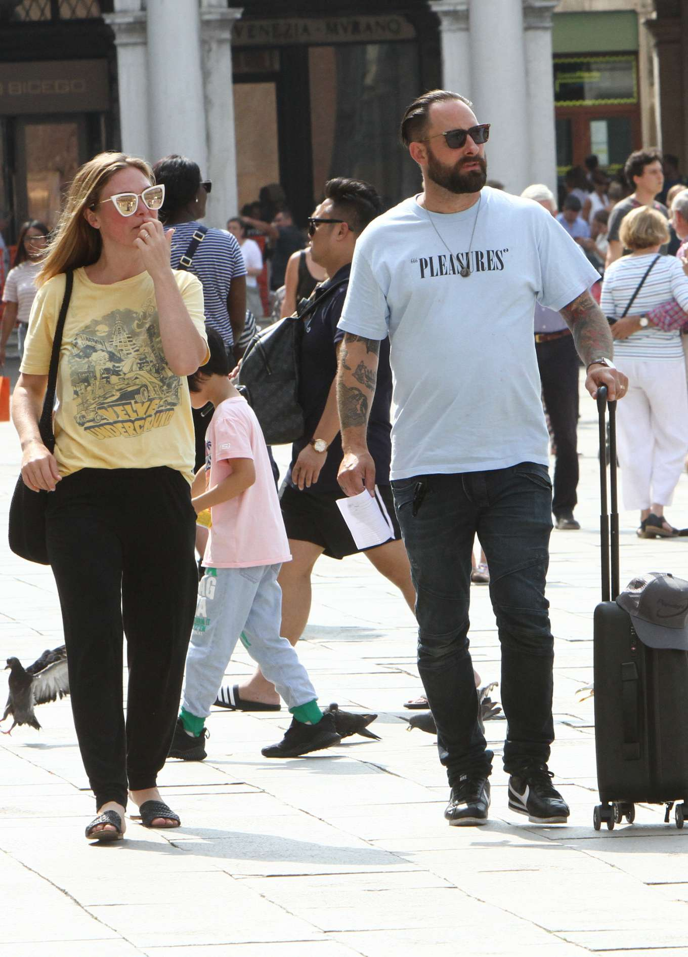 Julia Stiles 2019 : Julia Stiles and her husband Preston J. Cook – Spotted in Venice -27