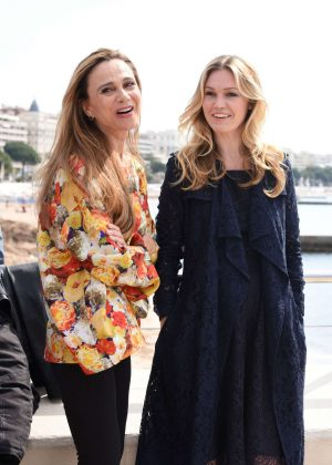 Julia Stiles and Lina Olin at Photocall RIVIERA in Cannes