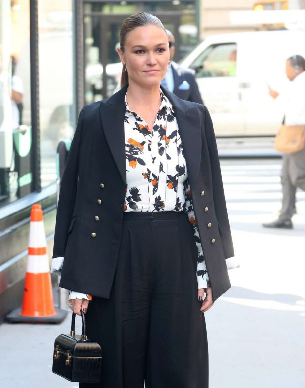 Julia Stiles - Arrives at Build Series in New York