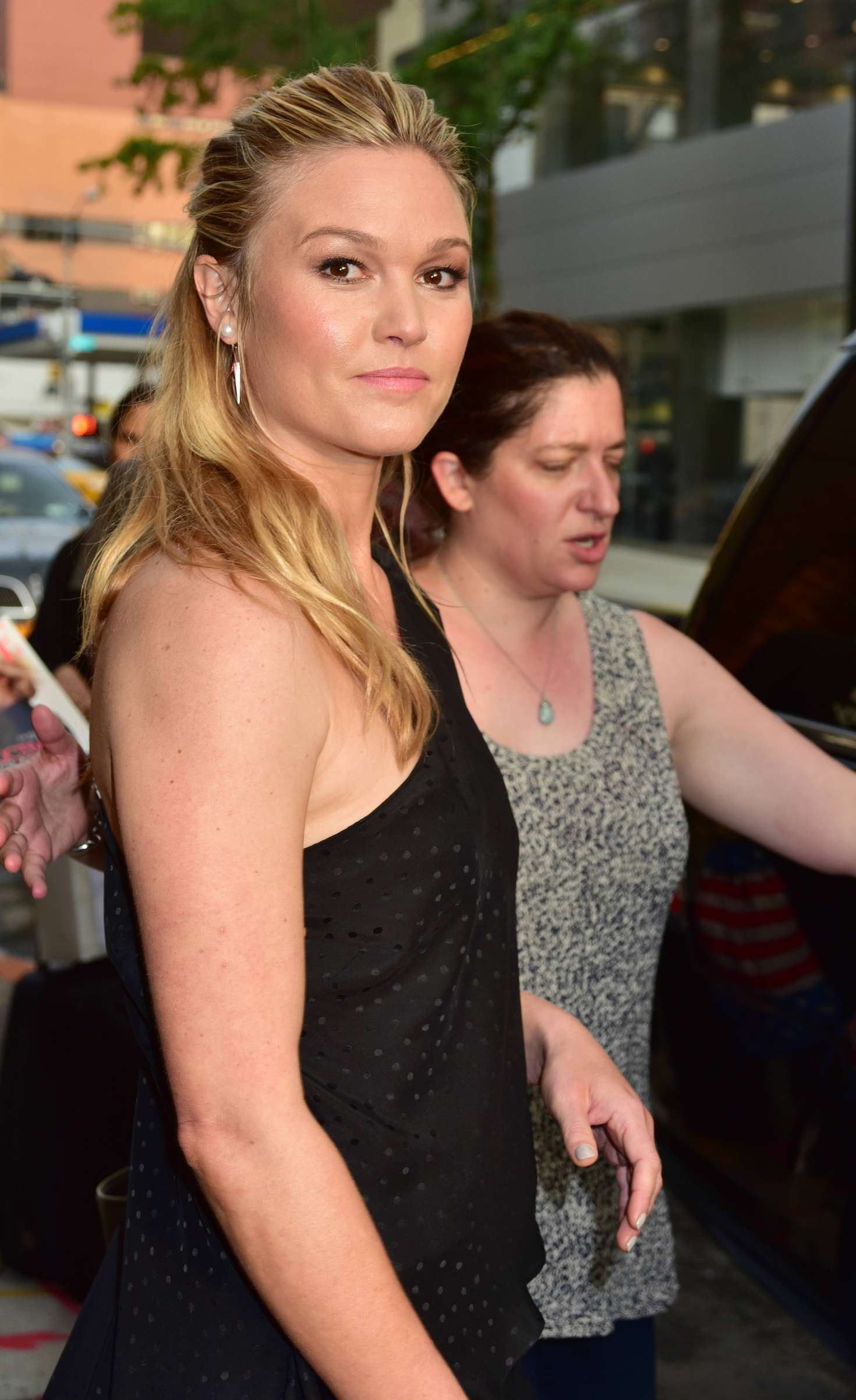 Julia Stiles at The Daily Show With Trevor Noah in New York City