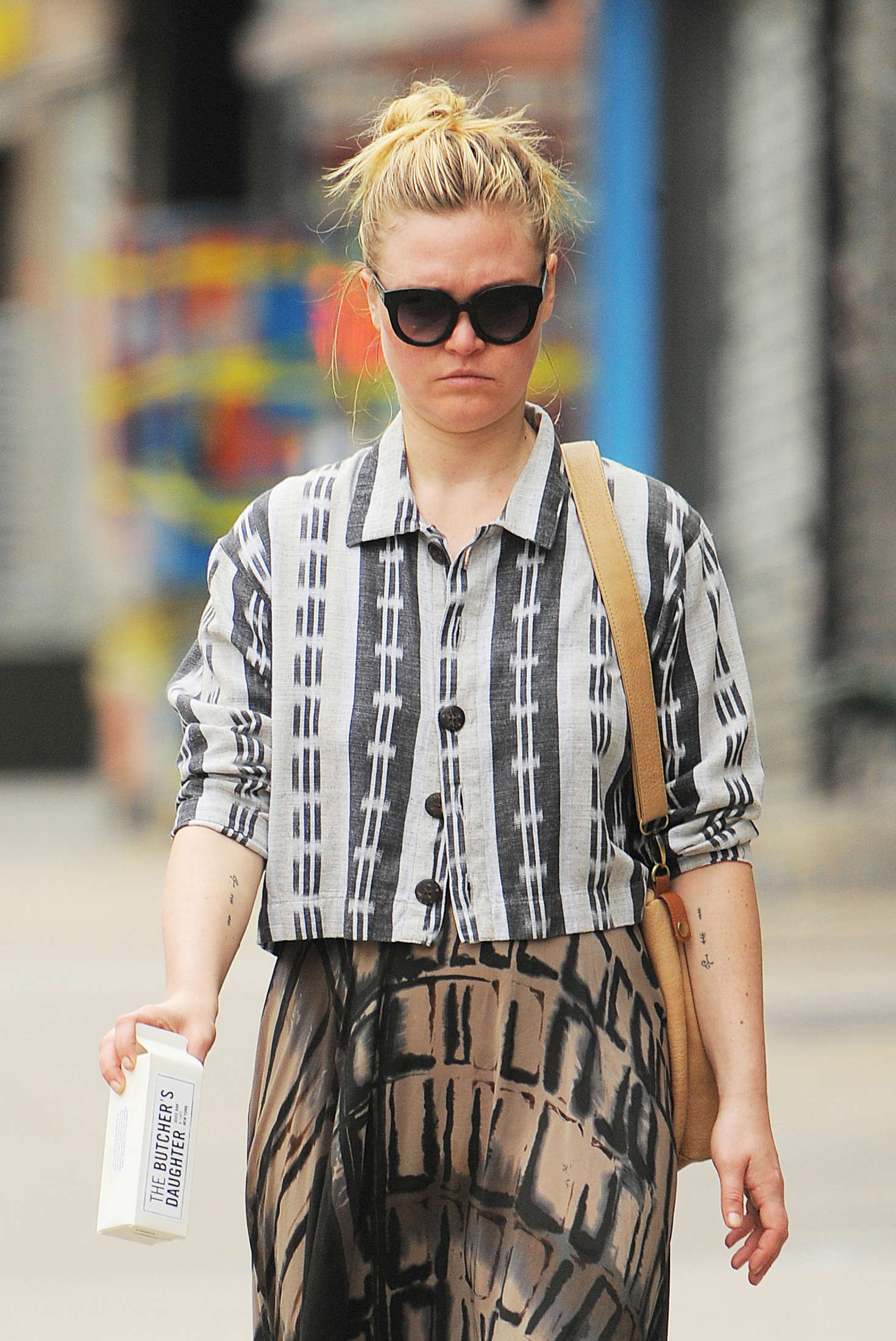 Julia Stiles in Long Skirt out in NYC
