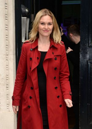 Julia Stiles - Leaves KissFM Studio in London