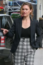 Julia Stiles - Leaving Virgin Radio Studios in London