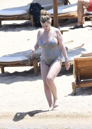 Julia Vigas in Swimsuit on the beach in Sardinia