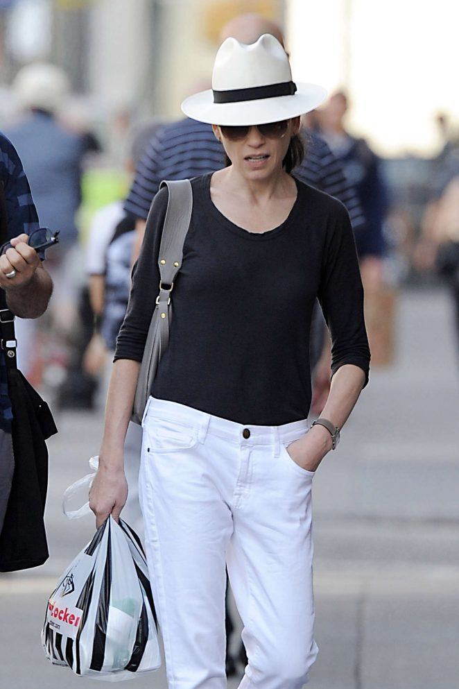 Julianna Margulies out in Soho