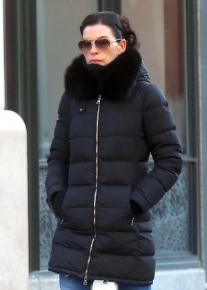 Julianna Margulies Out in the West Village