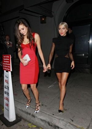 Julianne Hough and Nina Dobrev - Leaving Cragis Restaurant in LA