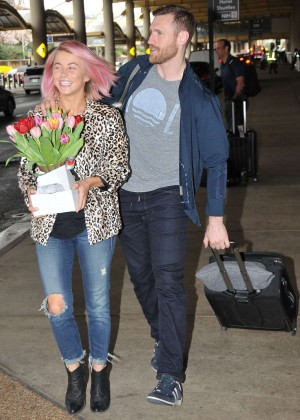 Julianne Hough at the airport in Washington
