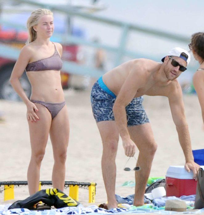 Julianne Hough 2017 : Julianne Hough: Bikini with husband Brooks Laich at the beach in Manhattan Beach-19