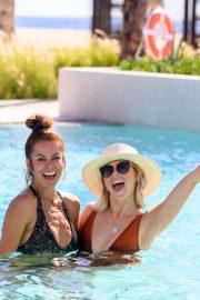 Julianne Hough, Brooke Burke and Hayley Erbert in Bikini on vacation in Cabo San Lucas