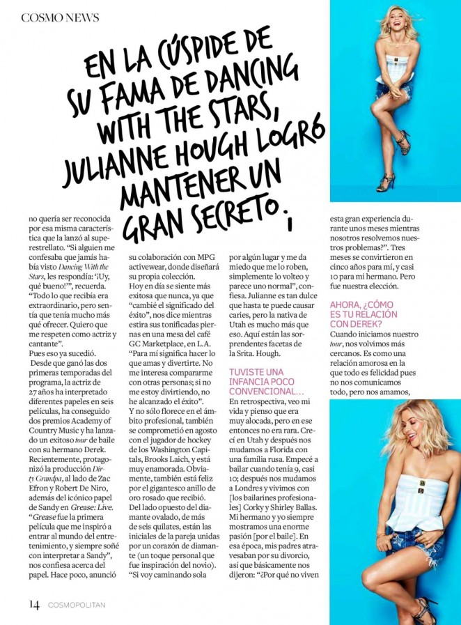 Julianne Hough Cosmopolitan Mexico GotCeleb - Cosmo mexico
