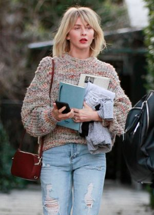Julianne Hough - Exits a business meeting in West Hollywood