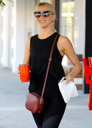 Julianne Hough - Gets coffee at Alfred Coffee in West Hollywood