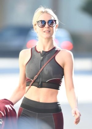 Julianne Hough - Hits the gym in Studio City
