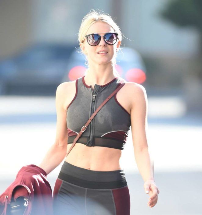 Julianne Hough – Hits the gym in Studio City