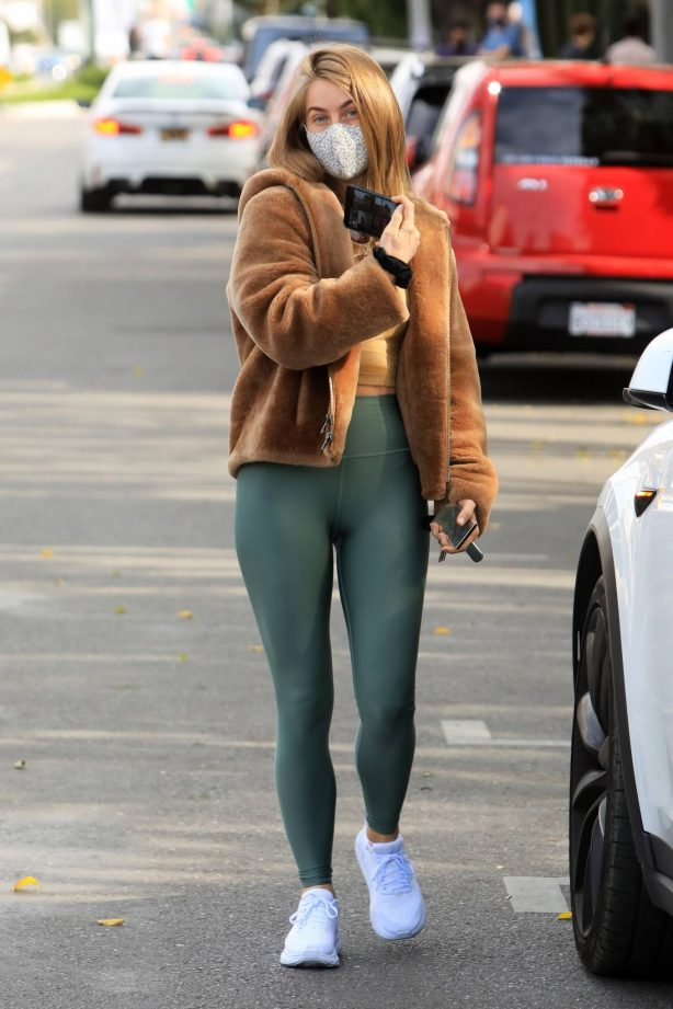 Julianne Hough - In a olive green leggings out in Los Angeles