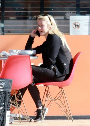 Julianne Hough in Black - Grabs breakfast in Studio City