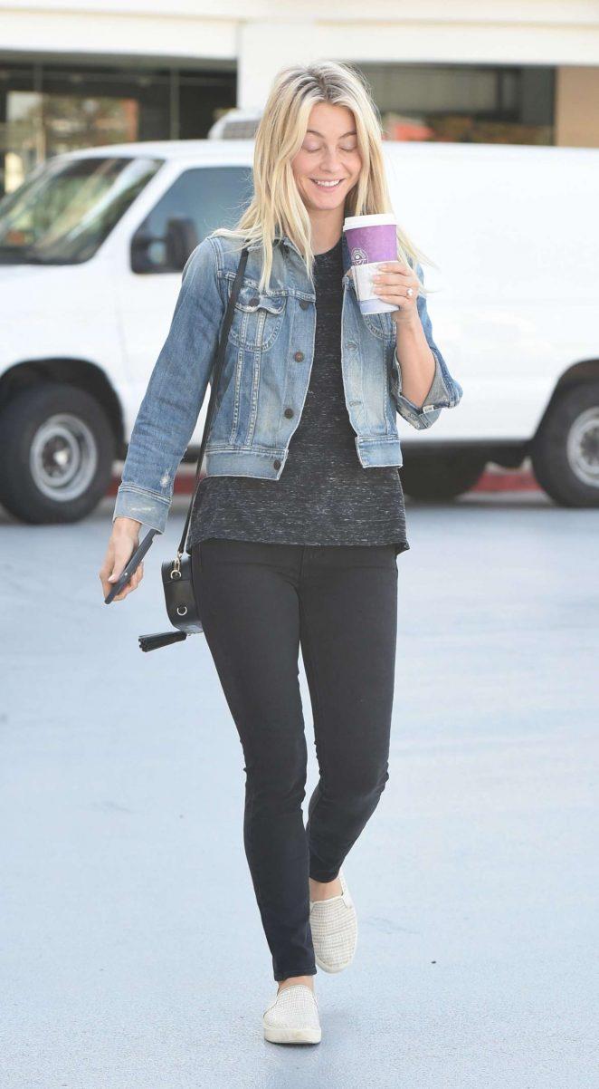 Julianne Hough in Black Jeans out in LA