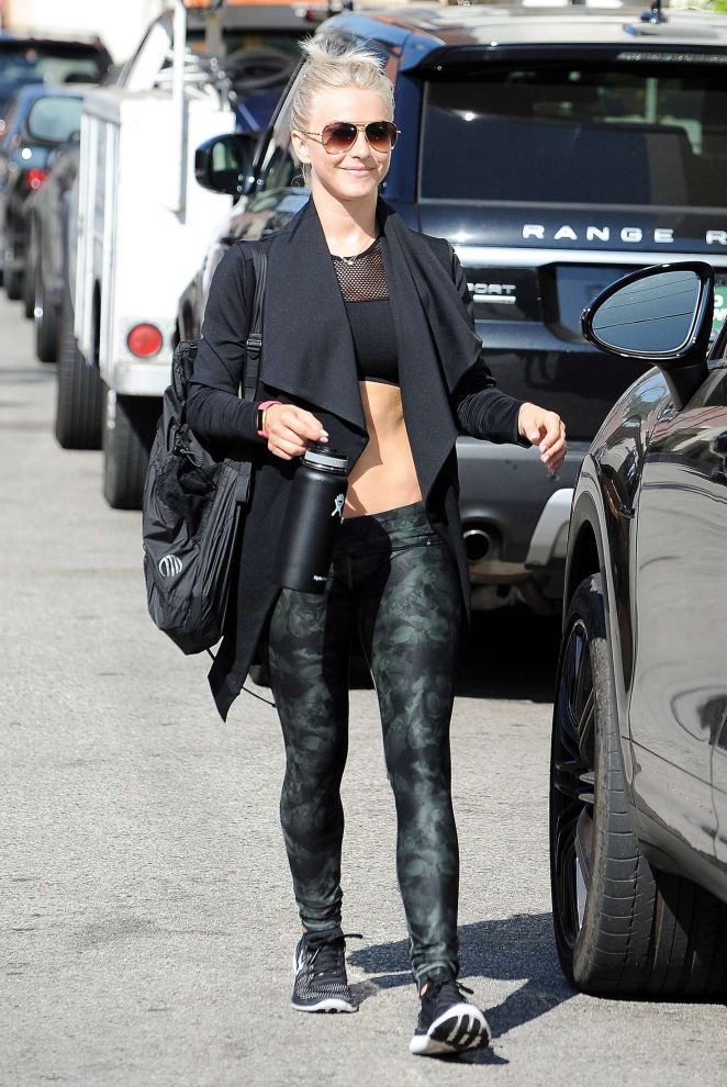 Julianne Hough in Black Leaving The Gym in Los Angeles