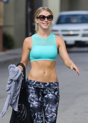 Julianne Hough in Leggings Leaving the gym in Los Angeles
