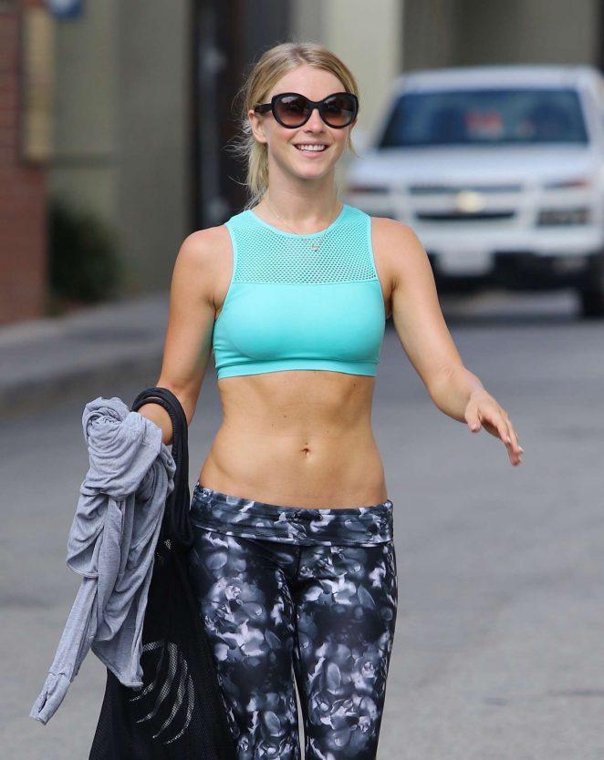 Julianne Hough in Leggings Leaving the gym in Los Angeles