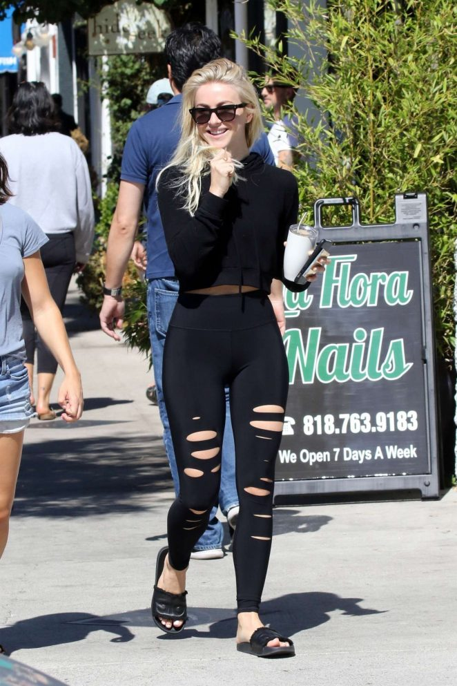 Julianne Hough in Ripped Tights at Joan's on Third in Studio City
