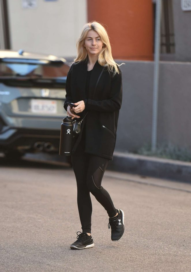 Julianne Hough in Tights - Heads to the gym in Los Angeles