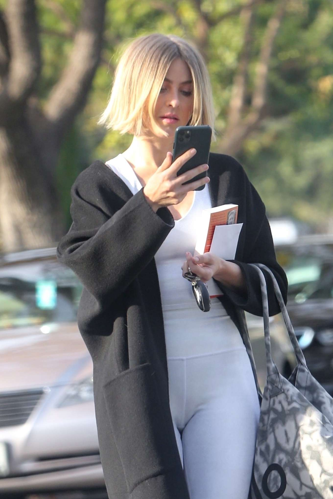 Julianne Hough in White Tights - Out in Hollywood