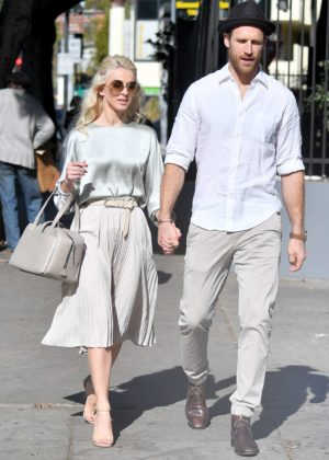 Julianne Hough - Leaves church services with Brooks Laich in LA