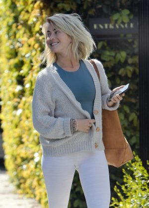 Julianne Hough - Leaving a friend's house in Los Angeles