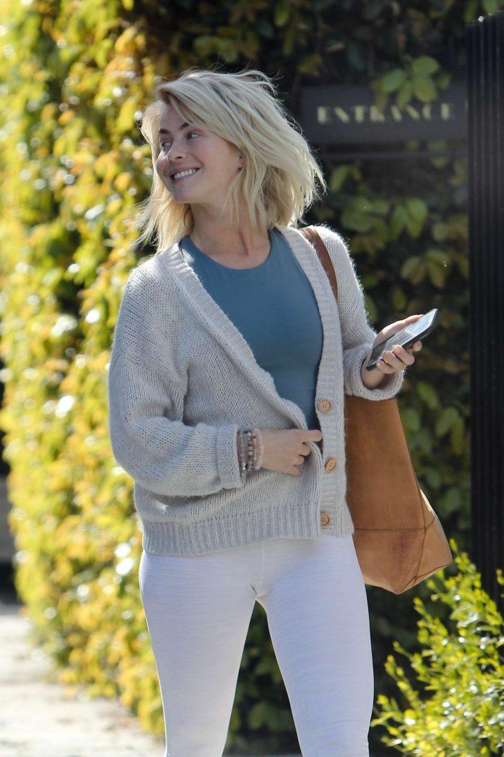 Julianne Hough - Leaving a friend's house in Los Angeles