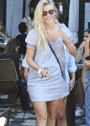 Julianne Hough in Mini Dress Leaving Zinque Cafe in Beverly Hills