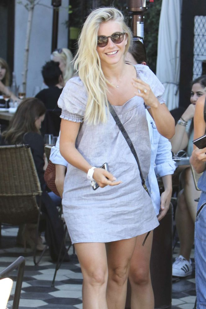Julianne Hough in Mini Dress Leaving Zinque Cafe in Beverly Hills