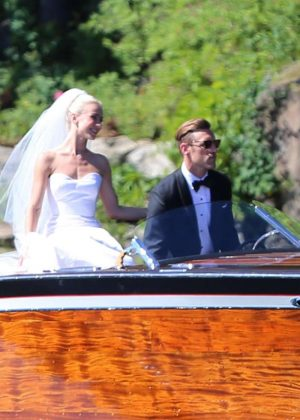 Julianne Hough - Marries Brooks Laich in an outdoor wedding in Cour d 'Alene
