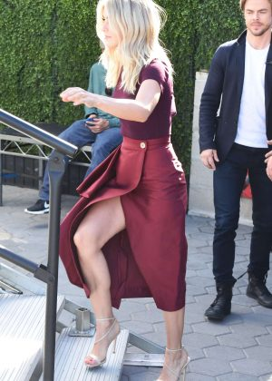 Julianne Hough on Extra at Universal Studios in Los Angeles
