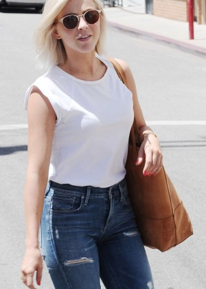 Julianne Hough in Ripped Jeans Out in Studio City