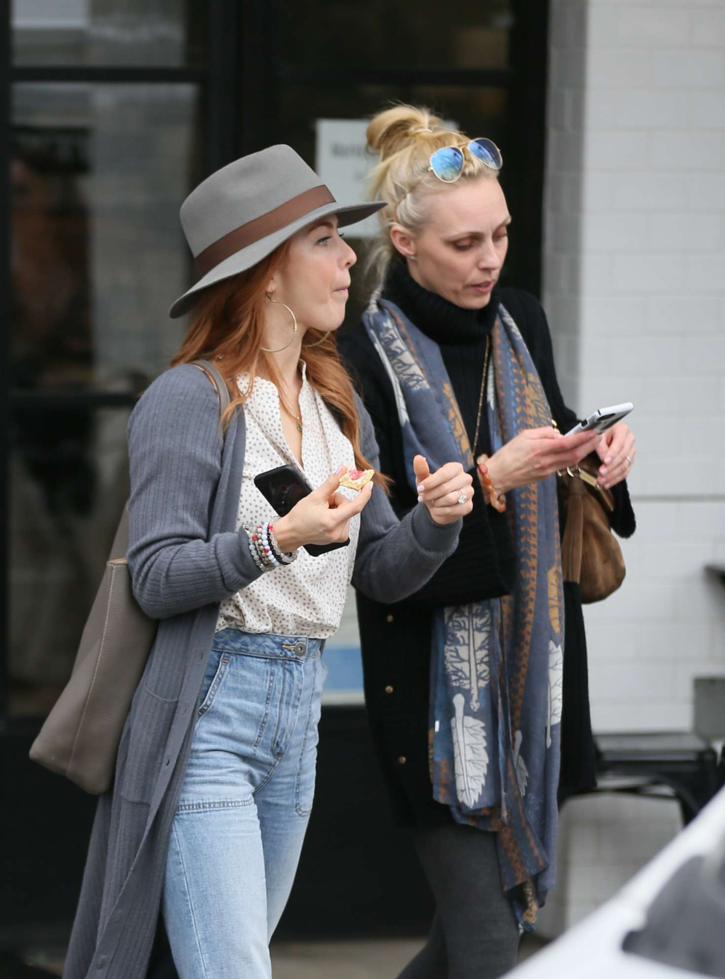 Julianne Hough out for lunch with a friend in LA