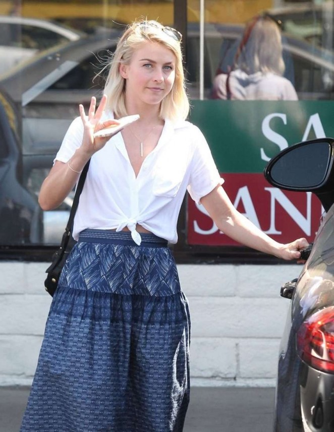 Julianne Hough out in Culver City