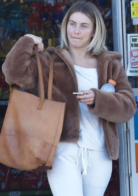 Julianne Hough - Out without makeup in Burbank