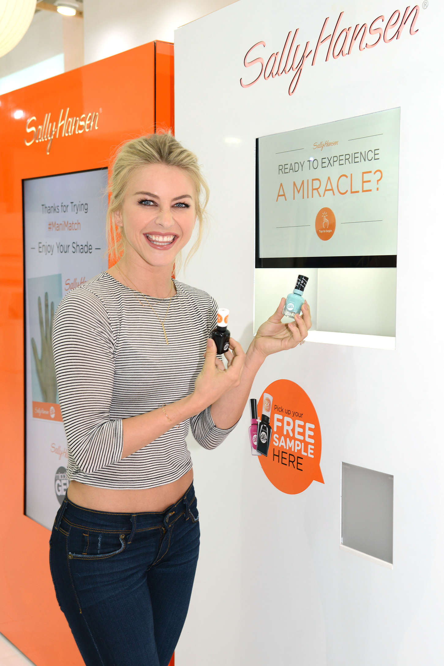 Julianne Hough - Sally Hansen Salon using the ManiMatch App in NYC