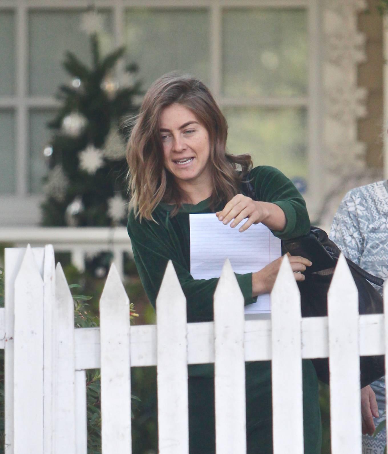 Julianne Hough 2020 : Julianne Hough – Seen leaving her mothers house in Studio City -08