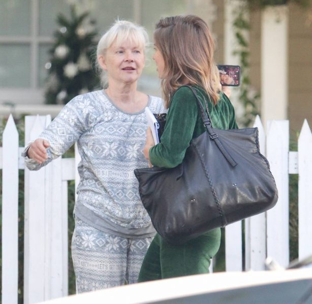 Julianne Hough - Seen leaving her mother's house in Studio City
